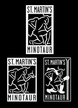 Design of seasonal logos for Minotaur division of St. Martin's Press _ NY