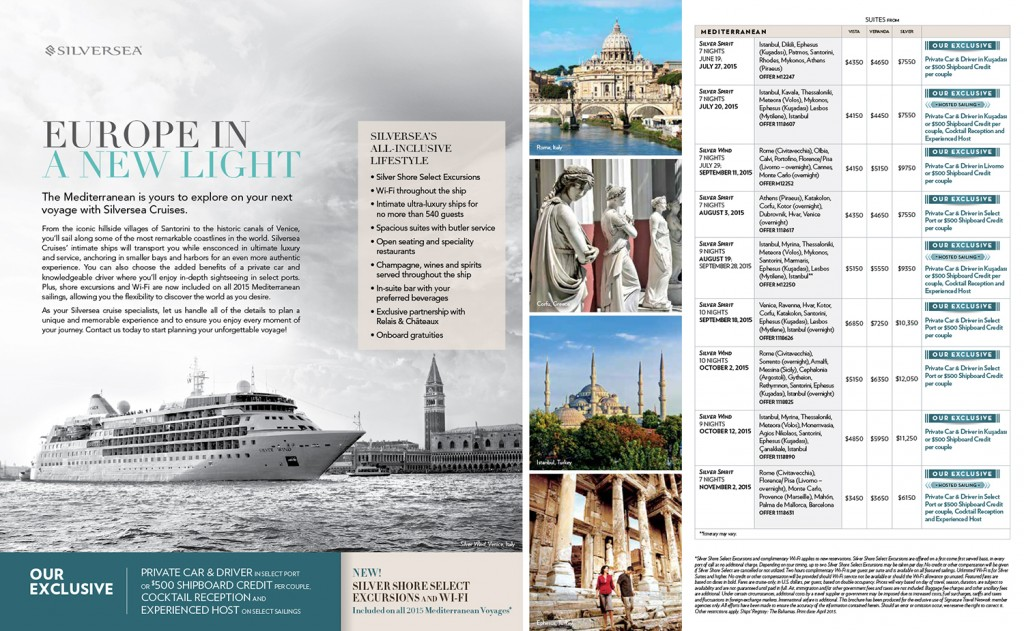 Design of Silversea Cruises mailer (worked with creative director)