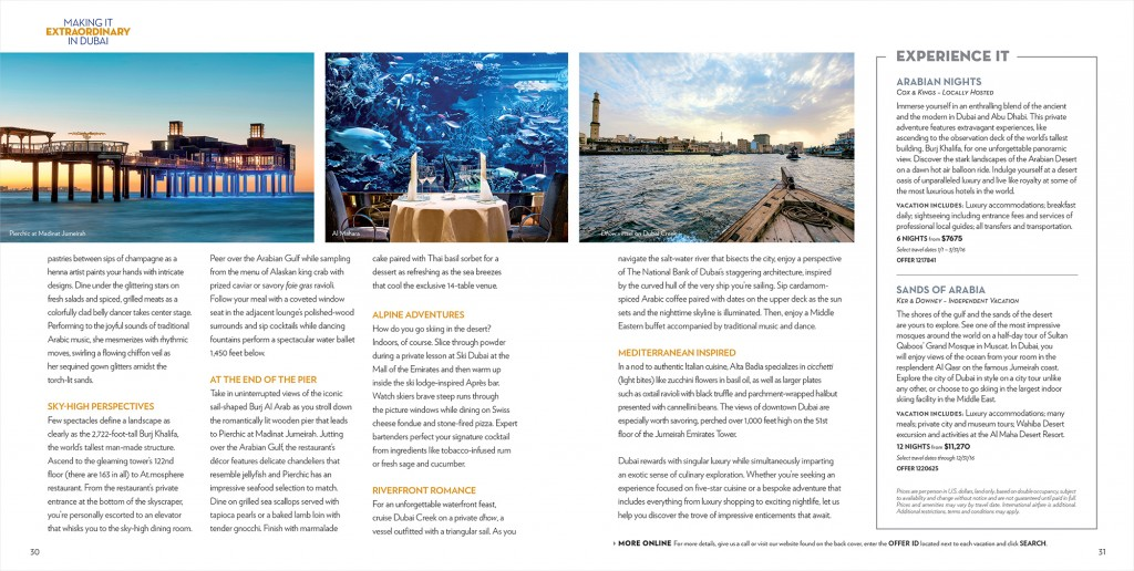 Travel Redefined Magazine layout design for Dubai (part 2)