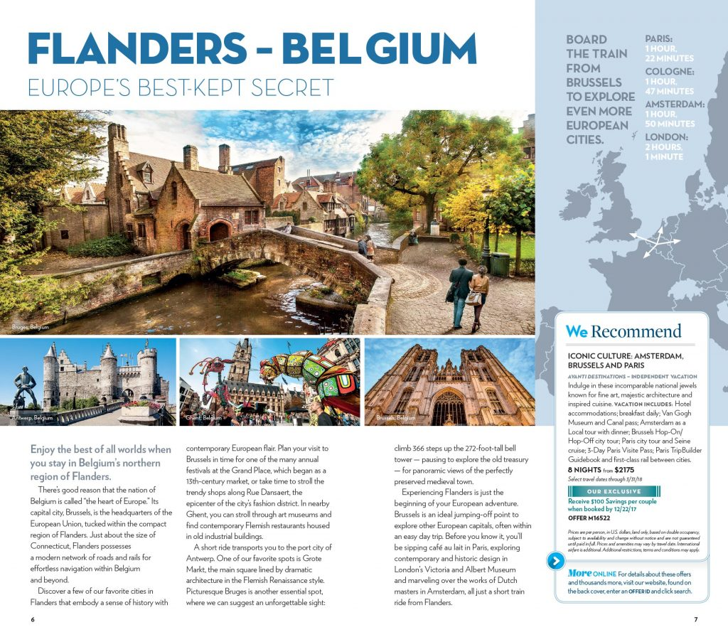 Today's Travel Values Flanders Spread