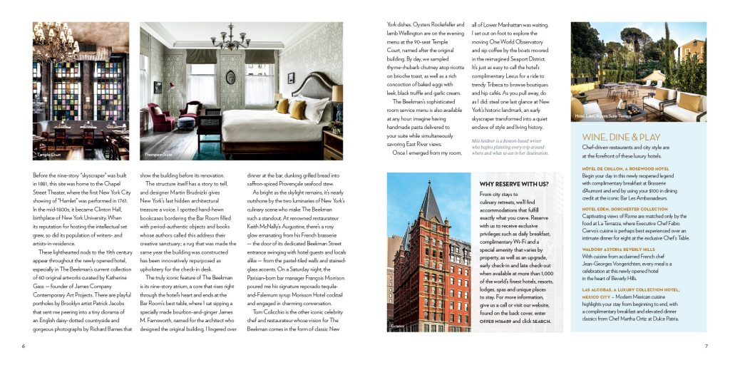 Travel Redefined Beekman Hotel 2nd Spread